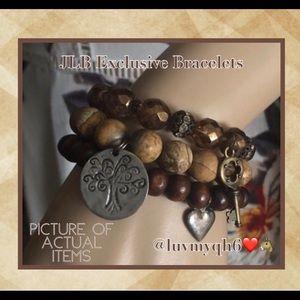 JLB Bead Charm Bracelets (3 Piece Set)